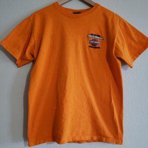 Harley Davidson Orange Tees Size M